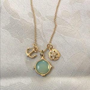 """Spartina """"My Anchor"""" Gold Tone Necklace"""